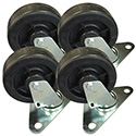 "4"" Low Profile Casters for Single Stack Convection Ovens 230-042 and 230-044"