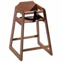 Wooden High Chair Solid Oak, Natural Oak Finish