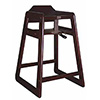 Old Dominion Wood High Chair Solid Oak, Mahogany Finish