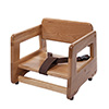 "Wood Booster Seat with Safety Strap, 11""H"