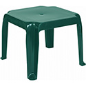 Compamia ISP240-GRE Sunray Resin Square Side Table Green, CS of 2/EA