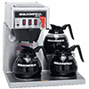 Automatic Coffee Brewer with Hot Water Faucet, 3 Bottom Warmers