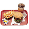 "Plastic Food Tray, 10-7/16""Wx13-9/16""D"