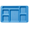 Cambro 1596CW - Six Compartment Tray, 2x2, Polycarbonate, Rectangular Compartments