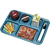 6 Compartment Cafeteria Tray ABS