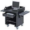 Versa Cart - With Dual Tray Rails, Heavy Duty Casters