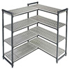 "Elements Stationary Shelving - 60""Wx18""Dx72""H 4 Shelf Add-On Kit"