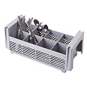 8 Compartment Half Flatware Basket