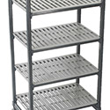 "Elements Mobile Shelving - 4 Shelf Mobile Shelving Kit, 42""Wx18""Dx78""H"