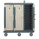 "Meal Delivery Cart Capacity 30 Trays 14"" X 18"" Coffee Beige/Light Gray"
