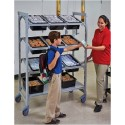 Cambro EMU244870FXPKG 4 Tier Premium Shelving Flex Cart, Mobile Unit