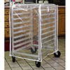 Bakery Rack Cart Cover Medium Duty, Fits Half-Size Racks