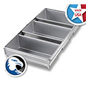 Chicago Metallic 45635 3- Strap Open Top Bread Pan
