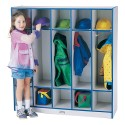Jonti-Craft 2681JCWW112 Rainbow Accents 5 Section Coat Locker - Navy