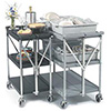 "Folding Utility Cart - 29-1/2""Wx16""D (Unfolded)"