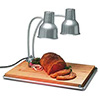 "Food Heat Lamp - 24"" Double Arm Infrared Gooseneck Aluminum"