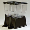 Trimline Beverage Dispenser - 2 Clear Polycarbonate Bowls