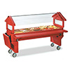 Six-Star Portable Food Bar - Youth Height, Open Base, 5 Full-Size Pan Capacity