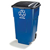 Rolling Recycle Container - 50 Gallon