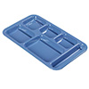 "Melamine Six Compartment Tray - For Right Hand Use, 15""Wx9""D"