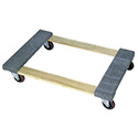 Wesco 272060 Open deck wood dolly with carpeted ends
