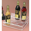 Flavored Syrup Bottle Organizer, 2 Tiers, Clear