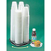 """Revolving Cup and Lid Dispenser - 4 Compartments, Up to 3.5"""" Diam., Acrylic"""