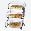 "Three Tier Bakery Display Case - Acrylic, 17-1/2""Wx16-1/2""Dx25""H"