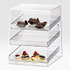 "Bakery Display Case - Acrylic, 3 Shelves, 10""Wx15""Dx13-1/2""H"
