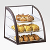 "Bakery Display Case - Three Shelves, Brown Frame, 16""Wx16-1/2""Dx16-1/2""H"