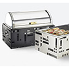 Squared Roll Top Chafer - Black