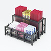 "Iron Packet Organizer - Two Tiers, 8-1/2""Wx6-3/4""Dx4""H"