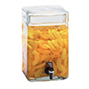Square Glass Infusion Beverage Dispenser - 2 Gallon