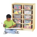 Jonti-Craft 2915JC 10 Tub Mobile Storage - with Colored Tubs