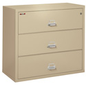 "FireKing 3-4422-CPA 3 Drawer 44"" Wide Lateral File"