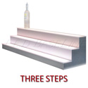 "LED Baseline 70"" 3 Tier LED Lighted Liquor Display Shelf - Black Finish"