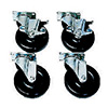 """5"""" Swivel Casters (Set of Four) For Standard Gas Fryers"""