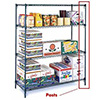 "Metro 74UP Super Erecta and Quick Release Wire Shelving - 74-5/8""H Post"