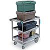 "Stainless Steel Utility Cart - Stainless Steel Utility Cart, 700 lb. Capacity, (3) 18""Wx27""D Shelves"