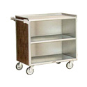 """Lakeside 644 - Enclosed Bus Cart, Stainless Steel/Laminate, 39-1/4""""W"""
