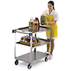 "Stainless Steel Utility Cart - Heavy Duty 500 lb. Capacity, 18""Wx27""D Shelves"