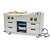 Lakeside 6750 - Mobile Food Station with Serving Counter, Stainless Steel