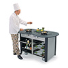 Lakeside 3070-IND - Mobile Cooking Cart, Stainless Steel/Laminate