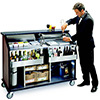 "Lakeside 889 - 62-1/2""W Portable Bar, Stainless Steel/Laminate"