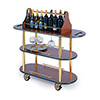 "Geneva 37207 - Oval Top Laminate Wine/Liquor Cart, 42-1/2""W"