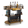 "Geneva 37210 - Oval Top Laminate Wine/Liquor Cart, 45""W"