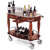 "Geneva 70038 - Oval Top Veneer Wine/Liquor Cart, 39-3/8""W"