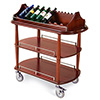 "Geneva 70516 - Oval Top Veneer Wine/Liquor Cart, 39-3/8""W"