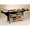 Lakeside 676 - Drop Leaf Beverage Service Cart, Stainless Steel/Vinyl