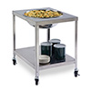 """Lakeside 712 - Mobile Stainless Steel Bowl Stand, 33-1/4""""W"""